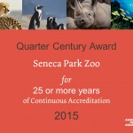 Zoo wins AZA Quarter Century Award